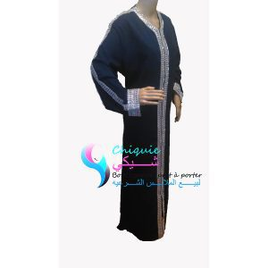 longue abaya a strass